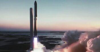 Wizualizacja Starship i Superheavy podczas startu / Credis - SpaceX