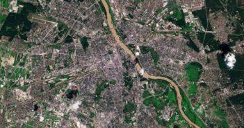 Warszawa z dnia 1 lipca 2020 - Senrtinel-2 / Credits - Copernicus Sentinel data (2020), processed by ESA, CC BY-SA 3.0 IGO