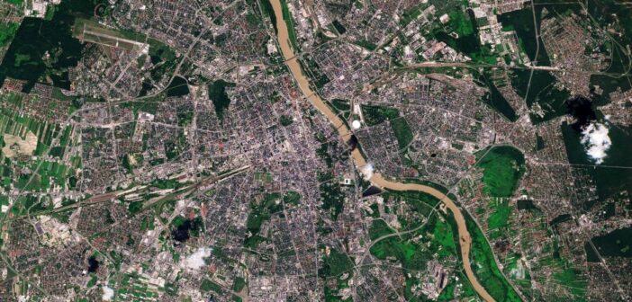 Warszawa okiem Sentinela-2