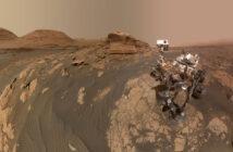 Łazik Curiosity w pobliżu Mont Mercou / Credits - NASA/JPL-Caltech/MSSS