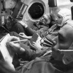 Załoga misji Sojuz 11 w trakcie treningu