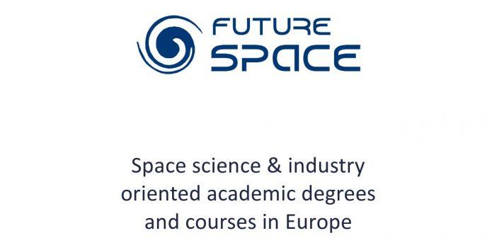 Okładka dokumentu dotyczącego kursów i studiów związanych z branżą kosmiczną w Europie / Credits - Future Space, POLSA