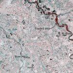 Zalane tereny wzdłuż rzeki Ren - dane z satelitów Sentinel-1 / Credits - ESA, Copernicus Sentinel