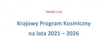 Okładka Krajowego Programu Kosmicznego w wersji 0.8 / Credits - MRPiT