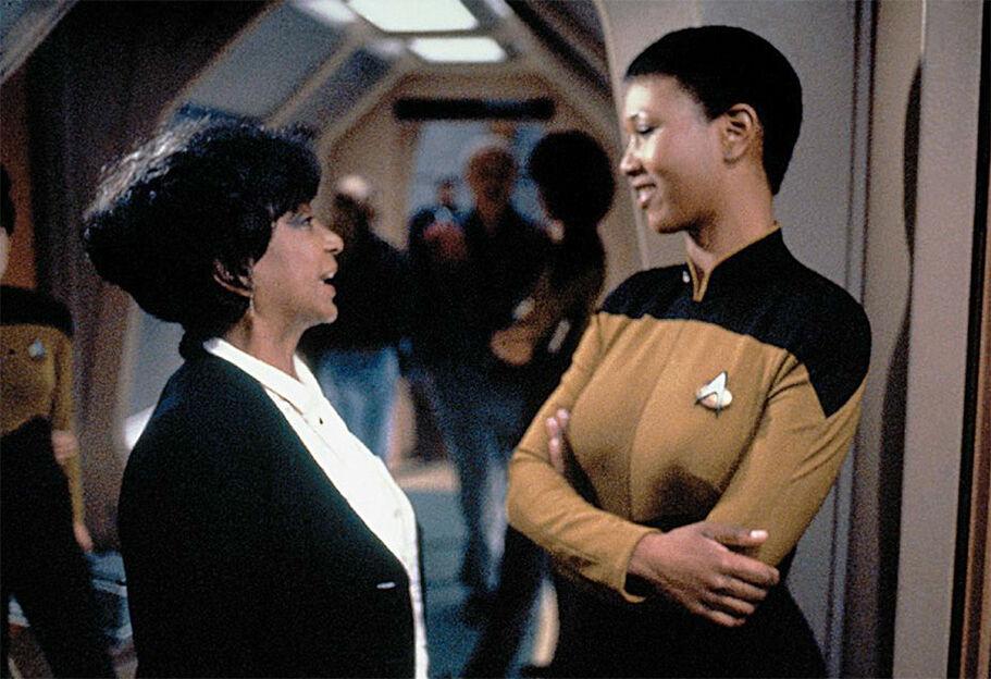 Astronautka Mae Jameson na planie Star Trek: Następne Pokolenie (źródło: Memory Alpha)