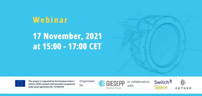 Free webinar for students and young professionals: Electric propulsion, innovation, career & work